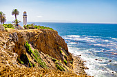View of Point Vicente Lighthouse, Rancho Palos Verdes, California, United States of America, North America