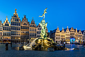 The Grote Markt in the historic centre, Antwerp, Belgium, Europe