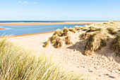 Sand dunes on North Norfolk Path at Holkham Bay, Norfolk, East Anglia, England, United Kingdom, Europe