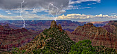 A storm brewing directly over the Sinking Ship on the south rim of the Grand Canyon, Grand Canyon National Park, UNESCO World Heritage Site, Arizona, United States of America, North America