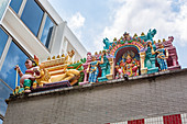 Sri Veeramakaliamman Temple in Little India, Singapur, Asien