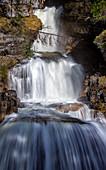 At the Kuhflucht waterfalls, Farchant, Upper Bavaria, Bavaria, Germany
