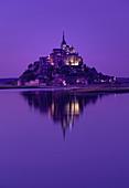 Mont St. Michel im Abendlicht, Dept. Manche, Frankreich, Europa