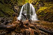 The Josefstaler waterfall in autumn, Schliersee, Upper Bavaria, Bavaria, Germany
