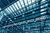 Berlin Brandenburg Airport BER. Willy Brandt, Terminal 1, Schönefeld, Berlin, Germany