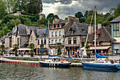 Medieval port of Dinan on the Rance Estuary, Brittany, France