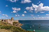 Fort La Latte rock castle, Chateau de la Roche Goyon, Cap Frehel, Emerald Coast, Brittany, France