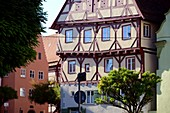 Half-timbered in the old town of Noerdlingen, Swabia, Bavaria, Germany