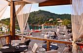 Bagnaia in der Bucht von Portoferraio, Elba, Toskana, Italien