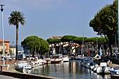 Hafen in Viareggio, Nord-Toskana, Italien