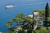 Italy, Liguria, Portofino, Luxurious villa overlooking the gulf of Genoa