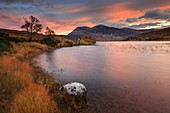 The boathouse at the southern end of  Loch Stack, in the North West Highlands of Scotland, captured at  sunrise in late October.