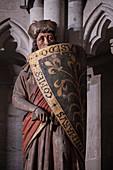 "UNESCO World Heritage Site ""Naumburg Cathedral"", donor figure, Naumburg (Saale), Burgenlandkreis, Saxony-Anhalt, Germany"