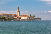 View of Old Town of Porec and Adriatic Sea, Porec, Istria Region, Croatia, Europe