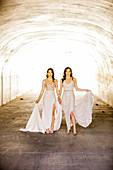 Brides first look pre-wedding ceremony, Corona, California, United States of America, North America