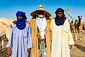 Tuaregs at the animal market, Agadez, Niger, West Africa, Africa
