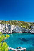 Beautiful beach and people snorkeling, Zakinthos Island, Ionian Islands, Greek Islands, Greece, Europe