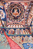 Frescoes, Last Judgement, New St. George Church, dating from 1705, Old Town, Bucharest, Romania, Europe