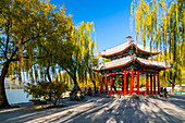 View of Pavilion of Perceiving at The Summer Palace, UNESCO World Heritage Site, Beijing, People's Republic of China, Asia
