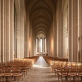 Interior of Grundvigs Church, Bispebjerg, Copenhagen, Denmark, Scandinavia, Europe