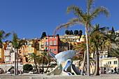 Plage des Sablettes, Menton, Provence-Alpes-Côte d'Azur, Frankreich