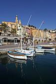 Vieux Port, Menton, Provence-Alpes-Côte d'Azur, Frankreich