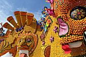 Installations for the Lemon Festival, Menton, Provence-Alpes-Côte d'Azur, France