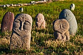 Kyrgyzstan, Chuy province, balbal grave stone, ancien city of Balagasun