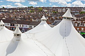 Roof of the Tented Market, Swindon, Wiltshire, England