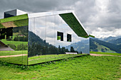 Spiegelhaus, Mirror House, Architect: Doug Aitken, Gstaad, Simmental, Bernese Alps, Bern, Switzerland