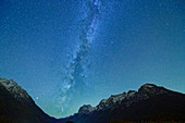 Milky Way over Hochkalter and Reiteralm, Berchtesgaden, Berchtesgaden National Park, Berchtesgaden Alps, Upper Bavaria, Bavaria, Germany