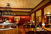 Cozy restaurant in Hotel Tällbergsgården, Tällberg, Dalarna, Sweden