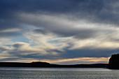 Dark clouds over Lake Siljan, Dalarna, Sweden