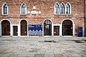 View of the Museo del Merletto in Burano, Venice Lagoon, Veneto, Italy, Europe