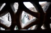 Blick von der Seufzerbrücke in die Sadt auf dem Weg vom Dogenpalast ins Gefängnis, Palazzo Ducale, san Marco, Venedig, Venetien, Italien, Europa