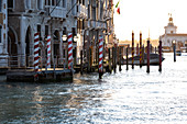 View of the Grand Canal at sunrise, Venice, Veneto, Italy, Europe