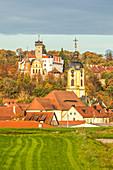 Schloß Schwarzenberg im Herbst, Scheinfeld, Neustadt an der Aisch, Mittelfranken, Franken, Bayern, Deutschland, Europa