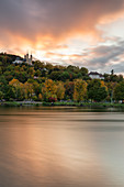 The Käppele in Würzburg at sunset, Lower Franconia, Franconia, Bavaria, Germany, Europe