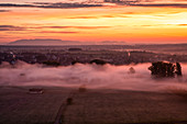 Nebelstimmung im Maintal bei Marktsteft, Kitzingen, Unterfranken, Franken, Bayern, Deutschland, Europa