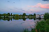 The Main near Volkach, Kitzingen, Lower Franconia, Franconia, Bavaria, Germany, Europe