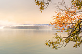 Autumn colors at Lake Starnberg, Tutzing, Bavaria, Germany