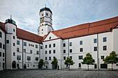 Castle in Dillingen an der Donau (today Tax Office), Bavaria, Germany