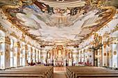 Golden Hall in the Academy for Teacher Training, Dillingen an der Donau, Bavaria, Germany
