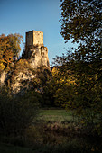 Dietfurt ruins near Inzigkofen, Upper Danube Valley Nature Park, Sigmaringen district, Danube, Germany