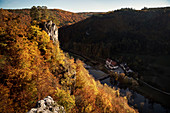 View from the Falkenstein ruins to the Upper Danube Valley Nature Park, Danube, Germany