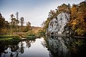 Amalienfels near Inzigkofen, Upper Danube Valley Nature Park, Sigmaringen district, Danube, Germany