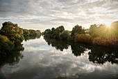 natural course of the Danube near Donauwörth, Donau-Ries district, Bavaria, Danube, Germany