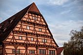 Half-timbered house Heilig Geist Spital, Ehingen, Danube, Alb-Danube district, Baden-Württemberg, Germany