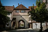 western city gate in Mühlheim an der Donau, Baden-Württemberg, Germany