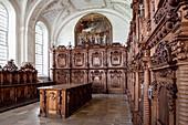 Old sacristy in the Obermarchtal monastery, parish near Ehingen, Alb-Donau district, Baden-Württemberg, Danube, Germany